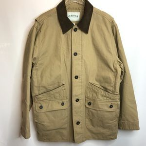 Orvis Field Barn Jacket Coat Tan Canvas Size XL